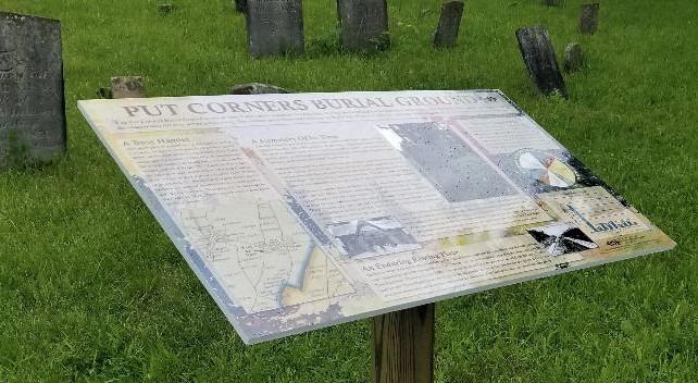 Put Corners Burial Site Interpretive Plaque