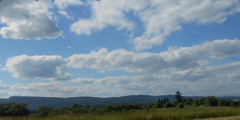sky and Shawangunk Ridge